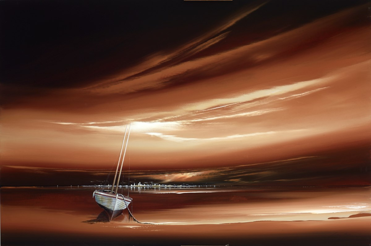 Cappuccino Boat II by jonathan shaw -  sized 36x24 inches. Available from Whitewall Galleries